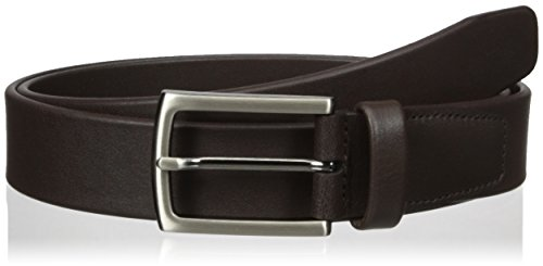 Perry Ellis Men's Tubular Dress Belt, Chocolate, 36