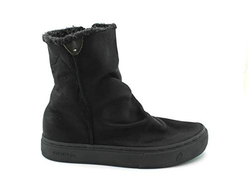 Shoes Black Napa Zip Meraki Boots Woman Leather 182020 Wool Satorisan Nero Ankle SBIwK6RHq