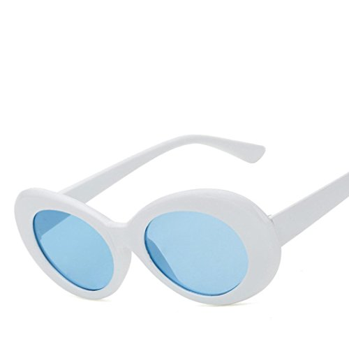QingFan Men Women Round Vintage Mirrored Sunglasses Circle Eyewear Summer Outdoor Glasses (Blue, - Old Sunglasses Fashioned