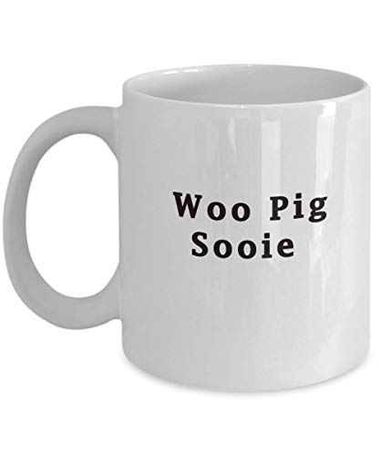 Woo Pig Sooie - Arkansas Fan Mug Razorbacks AR White Coffee Mug text Mug 11 Oz Novelty Birthday Present For Him Or Her Gift Idea For Husband, Wife, Si