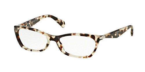 Prada PR15PVA Eyeglasses 55-16-135 Spotted Opal Brown w/Demo Clear Lens UAO1O1 VPR15P