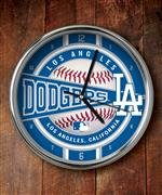 The Memory Company MLB Los Angeles Dodgers Official Chrome Clock, Multicolor, One Size ()