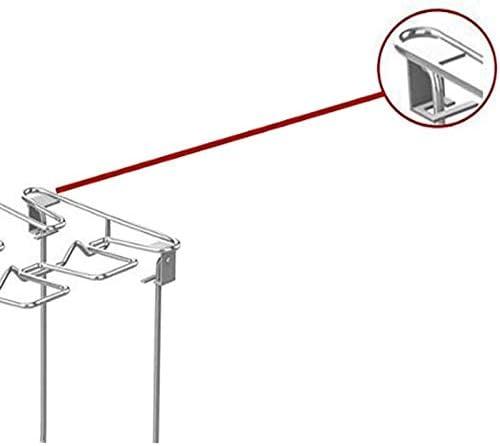 Support de gril de support de jambe d'aile de poulet en acier inoxydable avec lèchefrite pour grille de gril multifonctionnelle de four de jambe de poulet de BBQ