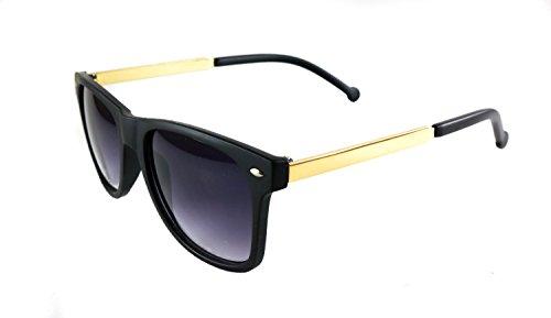 Retro square sunglasses with golden - Sunglasses Crap