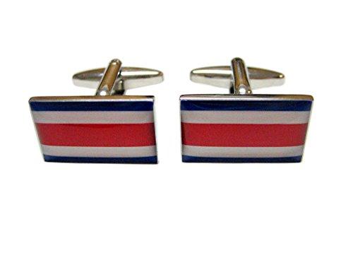 Costa Rica Flag Cufflinks