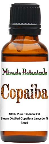 Miracle Botanicals Copaiba Essential Oil - 100% Pure Copaifera Langsdorfii - 10ml or 30ml Sizes - Therapeutic Grade - 30ml -