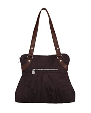Baggallini Luggage Leather Trim Audrey Satchel, Auburn, One Size
