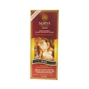 Surya Henna Black Cream 2.31 Oz. 4 Pack