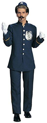 Rubie's 15103 XL Keystone Kop Cop Police Man Adult Costume Blue