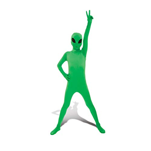 Glow Alien Kids Morphsuit Costume - size Small 3'-3'5 (91cm-104 cm) -
