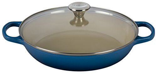 Le Creuset of America Enameled Cast Iron Buffet Casserole with Glass Lid, 3 1/2 quart, Marseille by Le Creuset