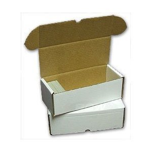 BCW 500 count Storage Box - Corrugated Cardboard Storage Box - Baseball, Football, Basketball and Hockey cards
