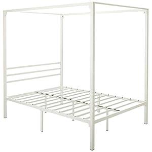 Zinus Metal Framed Canopy Four Poster Platform Bed Frame