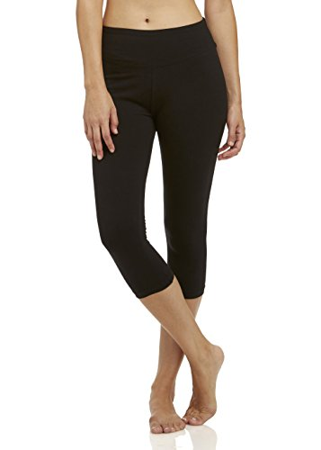 Marika Cotton Pants - Marika Women's Carrie Tummy Control Capri Leggings, Black, X-Large