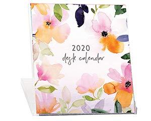 2020 Calendar Card - 2020 Floral CD Case Desk Calendar- Stephanie's Garden