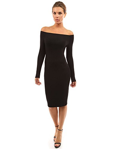a05e3c92afc PattyBoutik Women's Off Shoulder Long Sleeve Dress at Amazon Women's  Clothing store: