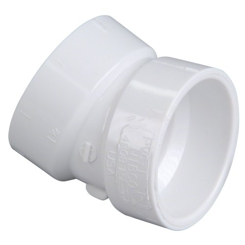 NIBCO 4808 Series PVC DWV Pipe Fitting, 22.5 Degree Elbow, 2