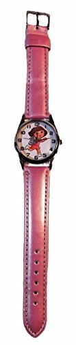 (New Horizons Production Dora The Explorer Pink Genuine Leather Band Wrist Watch)