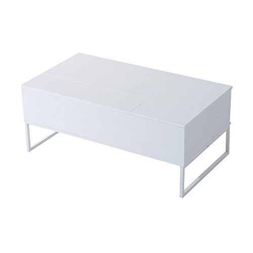 Homcom 43″ Modern Lift-Top Coffee Table – White Overview
