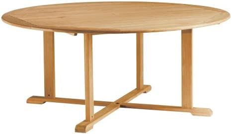 Oxford Garden 67-Inch Round Shorea Dining Table