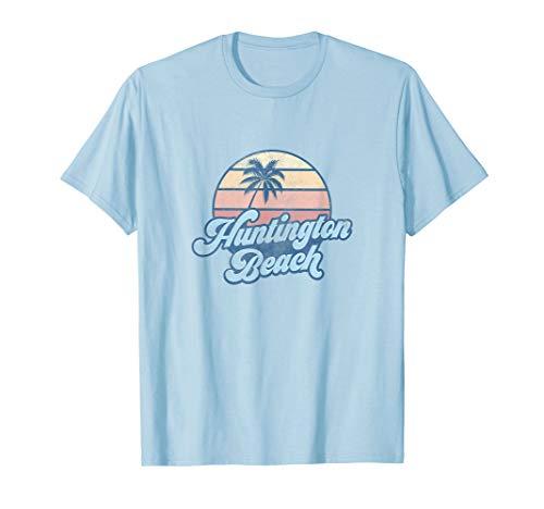 Huntington Beach California CA T Shirt Vintage 70s Surfer ()