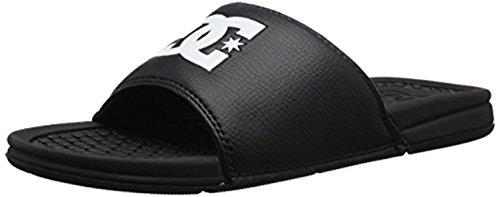 DC Shoes Herren Bolsa Slider Sandalen & Cooling Handtuch Bundle Schwarz