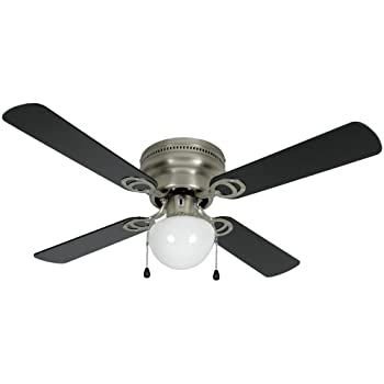 Hardware house 543611 aegean flush mount 42 inch ceiling fan with hardware house 543611 aegean flush mount 42 inch ceiling fan with optional light fixture aloadofball Choice Image