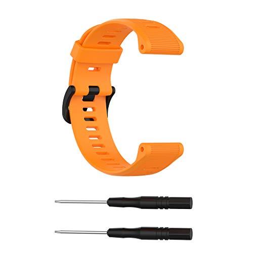 Qupida Soft Silicone Wrist Strap Watch Band Replacement for Garmin MARQ Series/Fenix 5 Plus/Forerunner945/935 Universal Bracelet Smart Watch Accessories