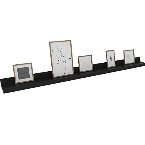 - Kemanner Contemporary Floating Wall Shelf Black Display Ledge Shelf for Picture Frames Book (Approx. 48-Inch Length)