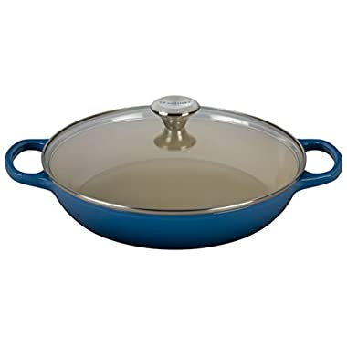 Le Creuset of America Enameled Cast Iron Buffet Casserole with Glass Lid, 3 1/2 quart, Marseille