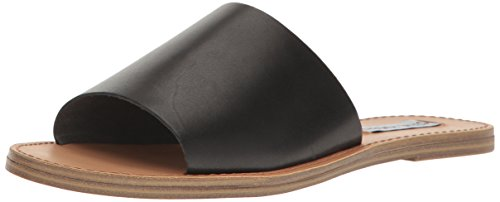 Steve Madden Womens Grace Flat Sandal Black Leather zUIW3tqpv