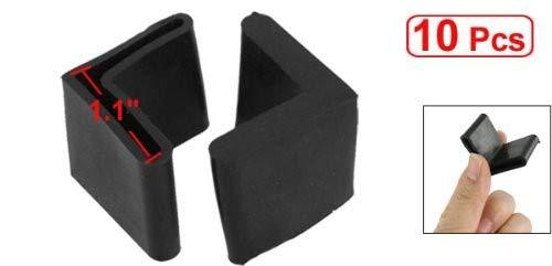 Sourcingmap Gummi-Abdeckungen f/ür M/öbel Schwarz 10 St/ück Winkelbeine aus Eisen L-f/örmig 29 mm x 29 mm