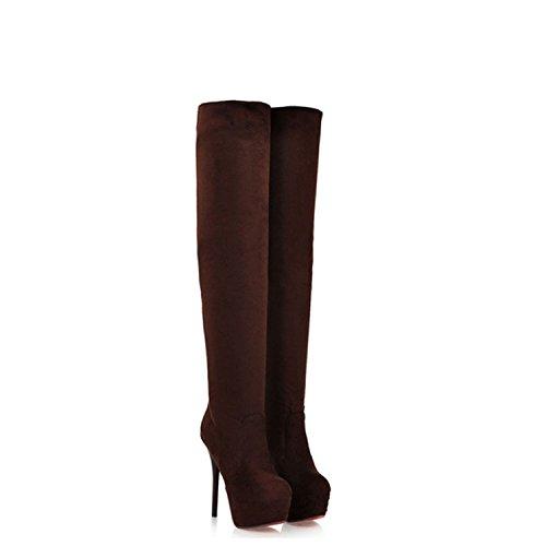 que Negro Plataforma Botas muslo largas son el no muy para hasta Zapatillas altos mujeres marcas Tacones EHHCAq