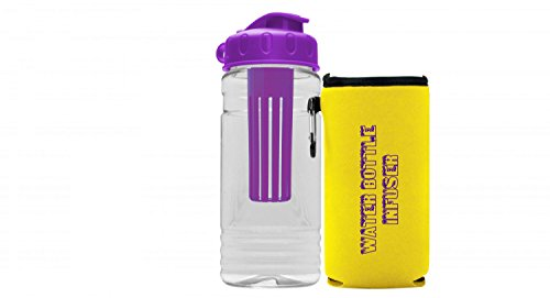 Premium Fruit Infuser Water Bottle - Great Gifts - Multiple Colors - BPA Free - Insulated Infusion - Includes Koozie - Leak Proof - USA Made (Fall Halloween Recipes)