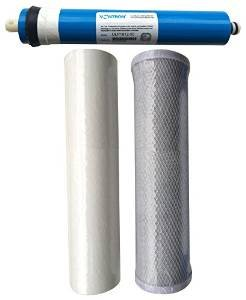 Reverse Osmosis 3 Stage RO Unit Replacement Pre Filters Including Membrane (75gpd Membrane) by CFS