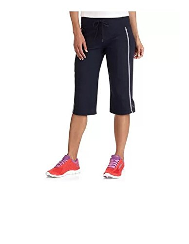 Striped Bermuda Below Knee Shorts Activewear (Medium, Blue) ()