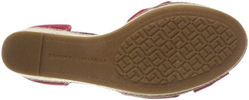 Hilfiger 611 Rouge Sandales Iconic Tommy Red Femme tango Plateforme Elena dzRAx7