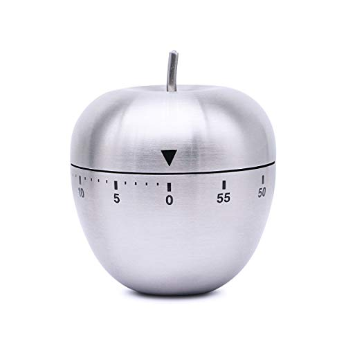Kitchen Timer Manual, YAODHAOD Fruit Shape Shaped Mechanical Rotating Alarm ,Stainless Steel Housingwith 60 Minutes for Cooking