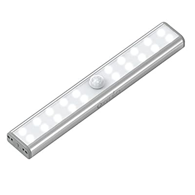 OxyLED OxySense T-02U USB Rechargeable 20 Bright LED Night Light, Stick-on Anywhere Motion Sensing Light Bar