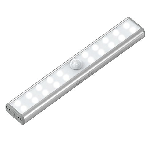 OxyLED-OxySense-T-02U-USB-Rechargeable-20-Bright-LED-Night-Light-Stick-on-Anywhere-Motion-Sensing-Light-Bar