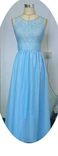 Et Femme Robe Clair Femme En Européenne Couture Américaine Dentelle Soirée De Bleu pFntnrqX