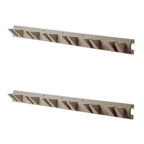 Suncast Tool - Suncast 4 Foot Handled Garden Tool Shed & Garage Wall Hanger, Platinum (2 Pack)