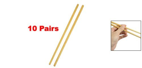 Amazon.com | eDealMax de madera de madera redondeadas palillos 9, 6 pulgada de largo 10 pares: Flatware Sets