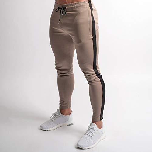 Bandage La À Loisirs Rayures Sport De Pantalons Serrés Confortable Imprimés Mode Hommes Élastique Pour Moonuy Décontractés Nouvelles Kaki FzqXfn4x