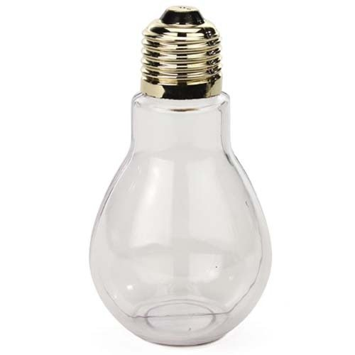 Creative Hobbies Clear Plastic Fillable Light Bulbs, Great for Candy, Weddings or Crafts, 4 Inch Tall, Case Pack of 24