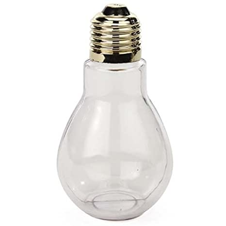 Creative Hobbies Clear Plastic Fillable Light Bulbs, Great For Candy,  Weddings Or Crafts,
