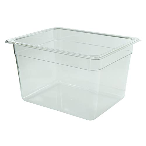 Houseables Sous Vide Container, Water Cooker Tub, 12 Quart, 14x12x7 Inch, Single, Clear, Polycarbonate, Sou Vide Bin, Food Cooking Tank, Storage Bucket, White Elephant, Christmas, Secret Santa Review