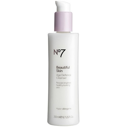 BOOTS No7 Beautiful Skin Age Defence Cleanser - 6.7 U.S. fl. oz. by Boots (Boots No 7 Face Cream For Mature Skin)