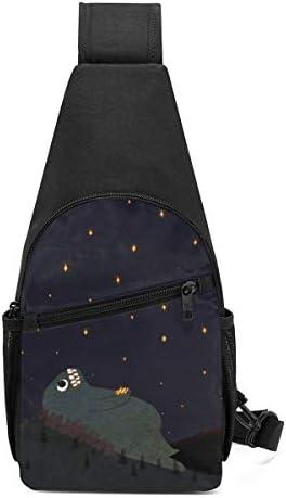 星を見た 斜め掛け ボディ肩掛け ショルダーバッグ ワンショルダーバッグ メンズ 多機能レジャーバックパック 軽量 大容量