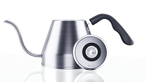 Pour Over Gooseneck Coffee Kettle 1.2L – Thermometer, Stainless Steel Drip Built In Temperature Gauge For Sale